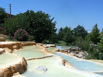 Denizli Province - Limestone terraces in Karahayıt, Denizli