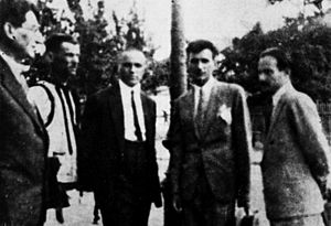 Eugen Rozvan - Rozvan (first from left) and the other deputies of the Peasant Workers' Bloc elected in the 1931 Romanian parliamentary elections.