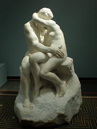 The Kiss (Rodin sculpture) - The Kiss in marble at the Ny Carlsberg Glyptotek in Copenhagen.