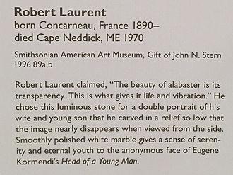 Robert Laurent - Description of Robert Laurent's Mother and Child in the Smithsonian American Art Museum