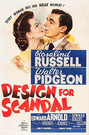 Design for Scandal - Film poster