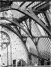detail van de bekapping tijdens wederopbouw -