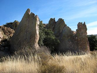 Skeleton Canyon - Devils Kitchen at the mouth of Skeleton Canyon, Peloncillo Mountains