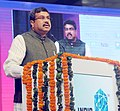 """Dharmendra Pradhan addressing at the inauguration of the """"India Mobile Congress 2017"""", the country's largest platform Connecting-Mobile-Internet-Technology, in New Delhi.jpg"""