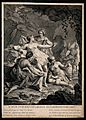 Diana (Artemis). Engraving by D. Sornique after J. Boulogne. Wellcome V0035798.jpg