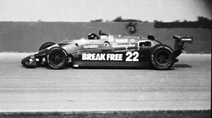 Dick Simon - Simon's IndyCar at Pocono in 1984