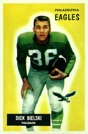 Dick Bielski - Bielski on a 1955 Bowman football card