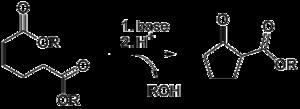 Dieckmann condensation - The Dieckmann condensation
