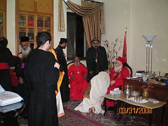Syriac Orthodox Church - The ranks of clergy in the Syriac Orthodox Church, i.e. Patriarch, Catholicos, Metropolitan, Corepiscopos, Priest, Deacon, Laymen.