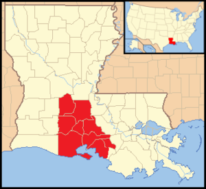 Roman Catholic Diocese of Lafayette in Louisiana - Image: Diocese of Lafayette in Louisiana map