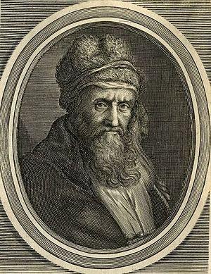 Diogenes Laërtius - 17th-century engraving