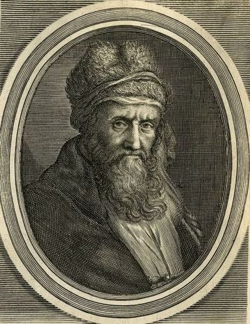 Diogenes Laertius is a principal source for the history of ancient Greek philosophy. Diogenes Laertius.jpg