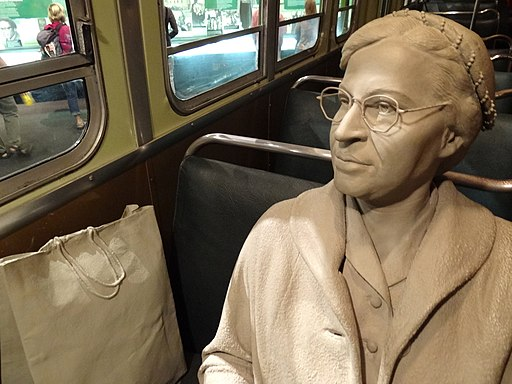 Diorama of Rosa Parks in Her Bus Seat - National Civil Rights Museum - Downtown Memphis - Tennessee - USA