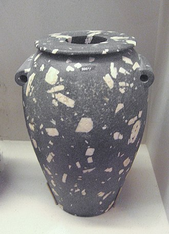 Prehistoric Egypt - Diorite vase from Gerzean or Neqada II period, approx 30 centimetres (12 in)