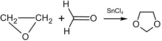 Synthesis of 1,3-dioxolane