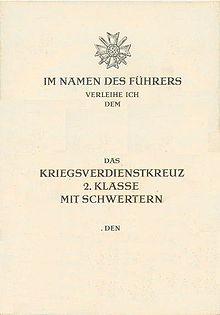Kriegsverdienstkreuz (1939) - WikiVisually