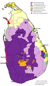 Distribution of Languages and Religious groups of Sri Lanka on D.S. Division and Sector level according to 1981 Census of Population and Housing