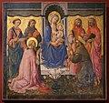 Domenico di michelino (attr.), madonna in trono tra santi, xv secolo, da s. girolamo a volterra 01.jpg