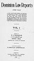 Dominion Law Reports - Volume 1 - Cover.jpg