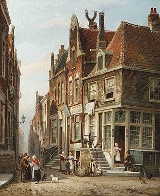 Cornelis Christiaan Dommersen - Image: Dommersen The Jewish quarter, Amsterdam