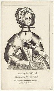 Dorothy Maijor Wife of Richard Cromwell