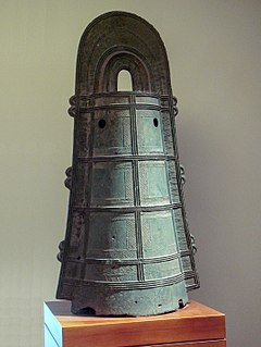 Japanese bells smelted from relatively thin bronze and richly decorated