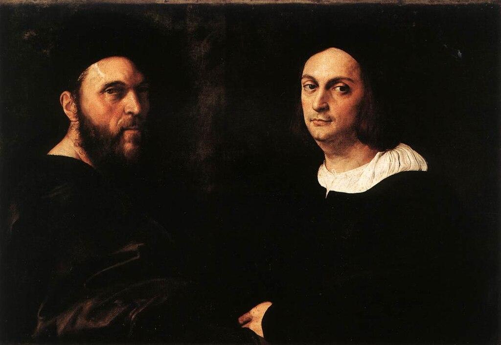Raphaël : Double Portrait d'Andrea Navagero et Agostino Beazzano dans la Galeria Doria Pamphilj de Rome.
