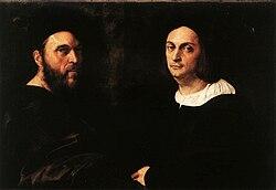 Raphael: Portrait of Andrea Navagero and Agostino Beazzano