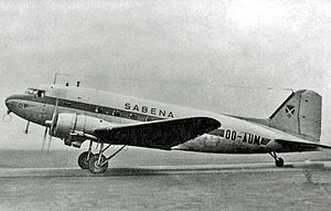 Sabena - Douglas DC-3 of Sabena in 1949