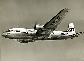 Douglas DC-4 - Pan American DC-4 in flight