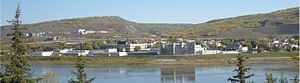 Peace River, Alberta - A view of Peace River as seen from West Hill. Kauffman Hill is to the left and Grouard Hill to the right separated by Pat's Creek valley