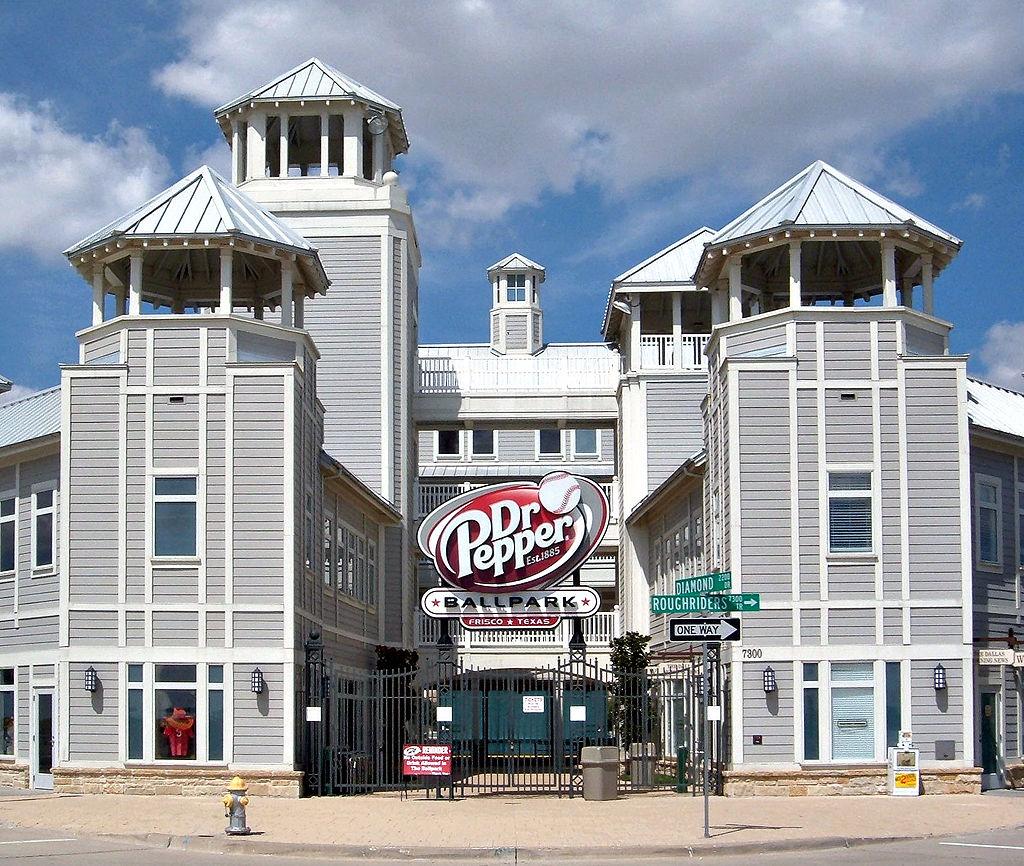 Dr pepper ballpark home plate entrance in frisco texas