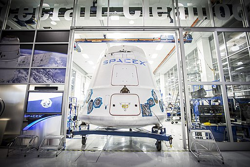 Dragon capsule being shipped out of SpaceX Hawthorne facility (16655995541)