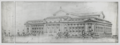 Drawing of the New York Public Library, showing the Fifth Avenue and Forty-second Street facades.tif