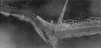 Battle of Pilckem Ridge - Image: Drei Grachten bridgehead, Flanders, 1917
