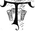 Dropcap illus T--queen of spades--The Strand Magazine, vol 1, no 1.png