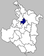 Map of Duga Resa municipality within Karlovac County