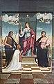 Duomo (Treviso) - interior - Capella Di Santa Giustina - Santa Giustina tra i santi Giovanni Battista e Caterina d'Alessandria e un donatore by Francesco Bissolo.jpg