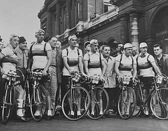 1950 Tour de France - The Dutch team at the start of the race in Paris