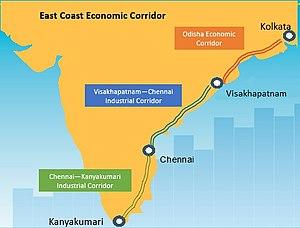 East Coast Economic Corridor - Image: ECEC map
