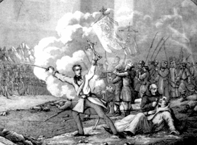 Edward Dembowski during Krakuw Uprising 1846.PNG