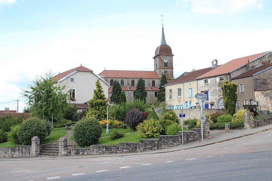 View of Fresnes-sur-Apance, France.