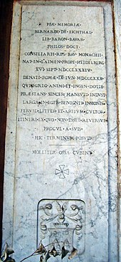 Epitaph des Sohnes Bernhard von Eichthal (1784–1830), Campo Santo Teutonico Rom (Quelle: Wikimedia)