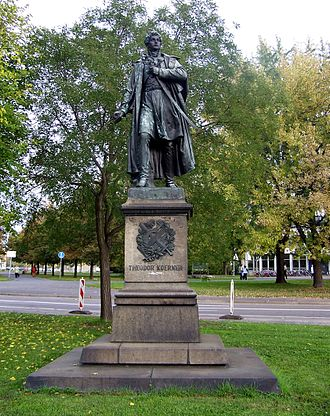 Theodor Körner (author) - Statue of Körner in Dresden (Ernst Julius Hähnel)
