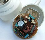 Electronic ballast of a compact fluorescent lamp