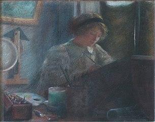 Interior do atelier de Aline Lamy