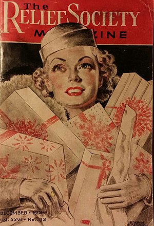 Elizabeth Anne Wells Cannon - Elizabeth Wells Cannon on the cover of the Relief Society, 1939