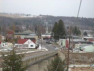 Elkland, Pennsylvania - Elkand as seen from the Cowanesque River