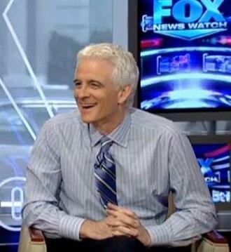 Ellis Henican - Henican on the set of Fox News Watch