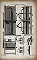 Engineering; a moving mangle and washboard, plan, elevations Wellcome V0024568ER.jpg